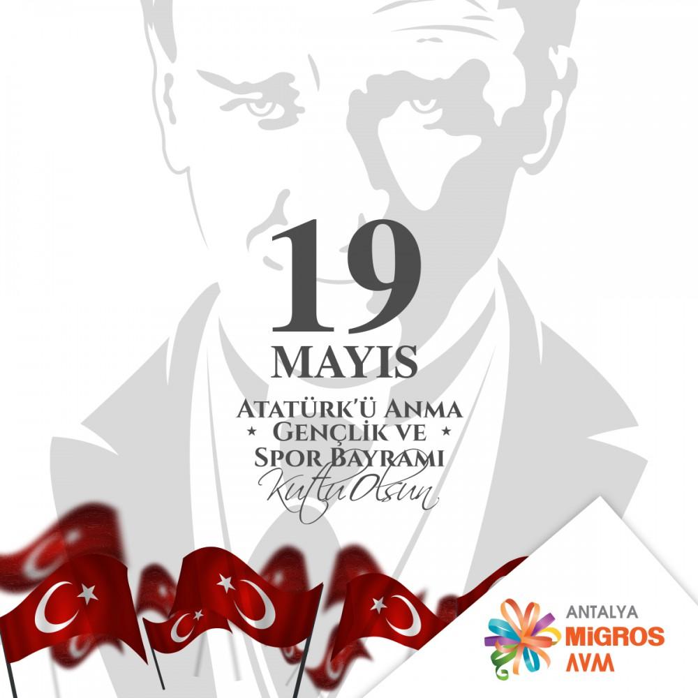 19 Mayıs Atatürk'ü Anma, Gençlik ve Spor Bayramımızın 101. yılı kutlu olsun!