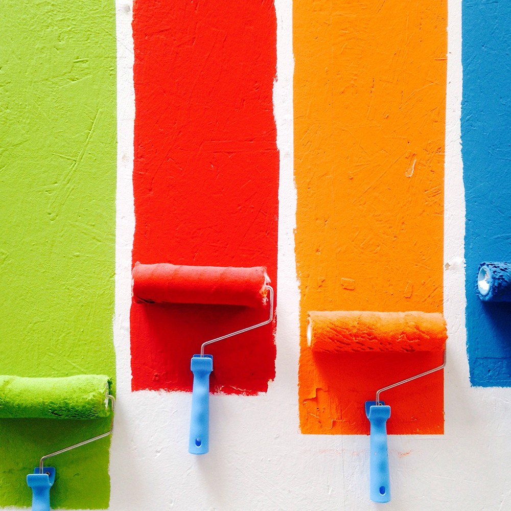 İki Renkli Duvar Boyama Tarzı