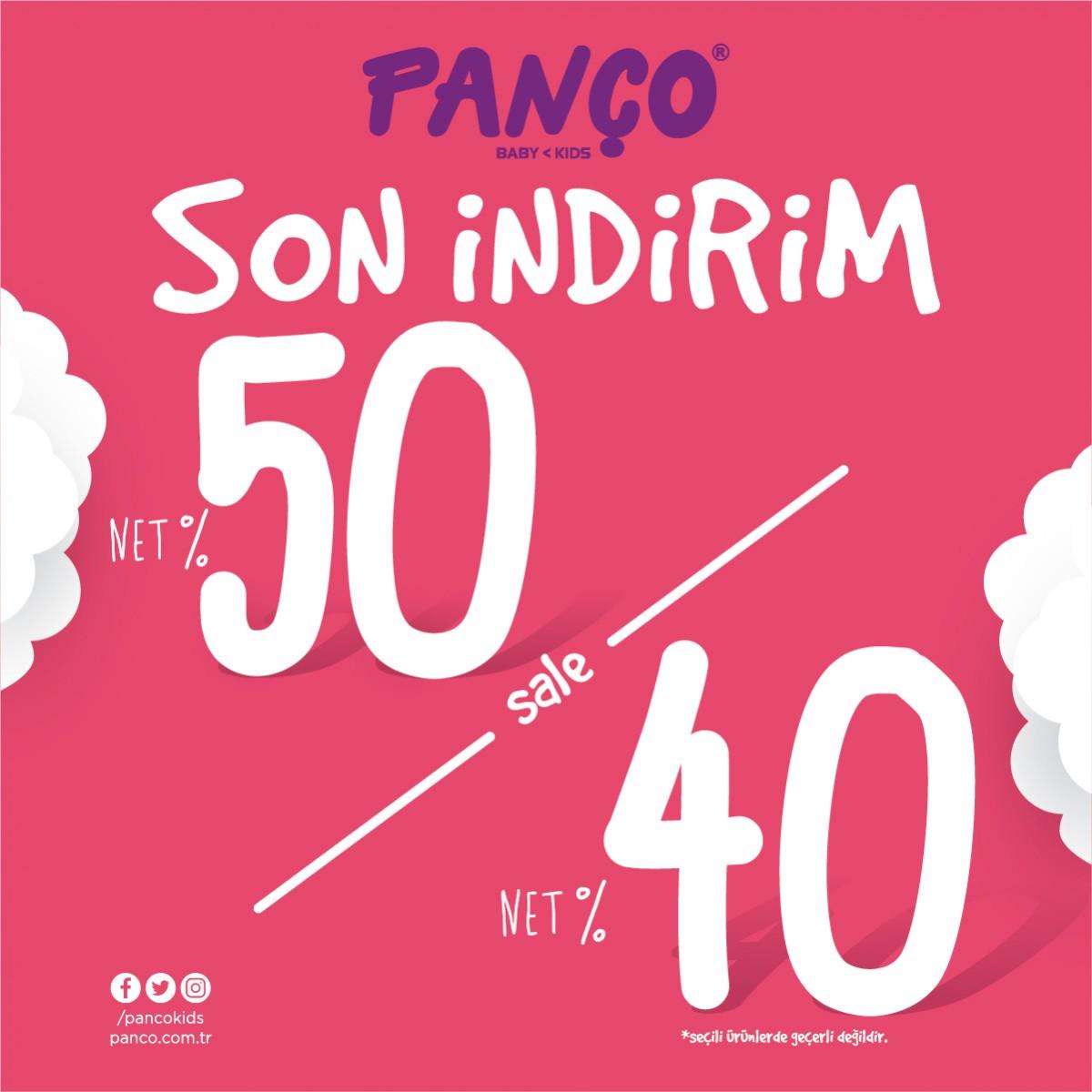%40 ve %50 net indirim #AntalyaMigros AVM Panço mağazasında başladı! Keyifli alışverişler dileriz.