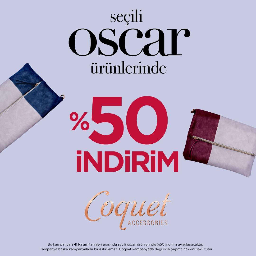 9- 11 Kasım arasında Coquet mağazasında seçili ürünlerde net % 50 indirim!