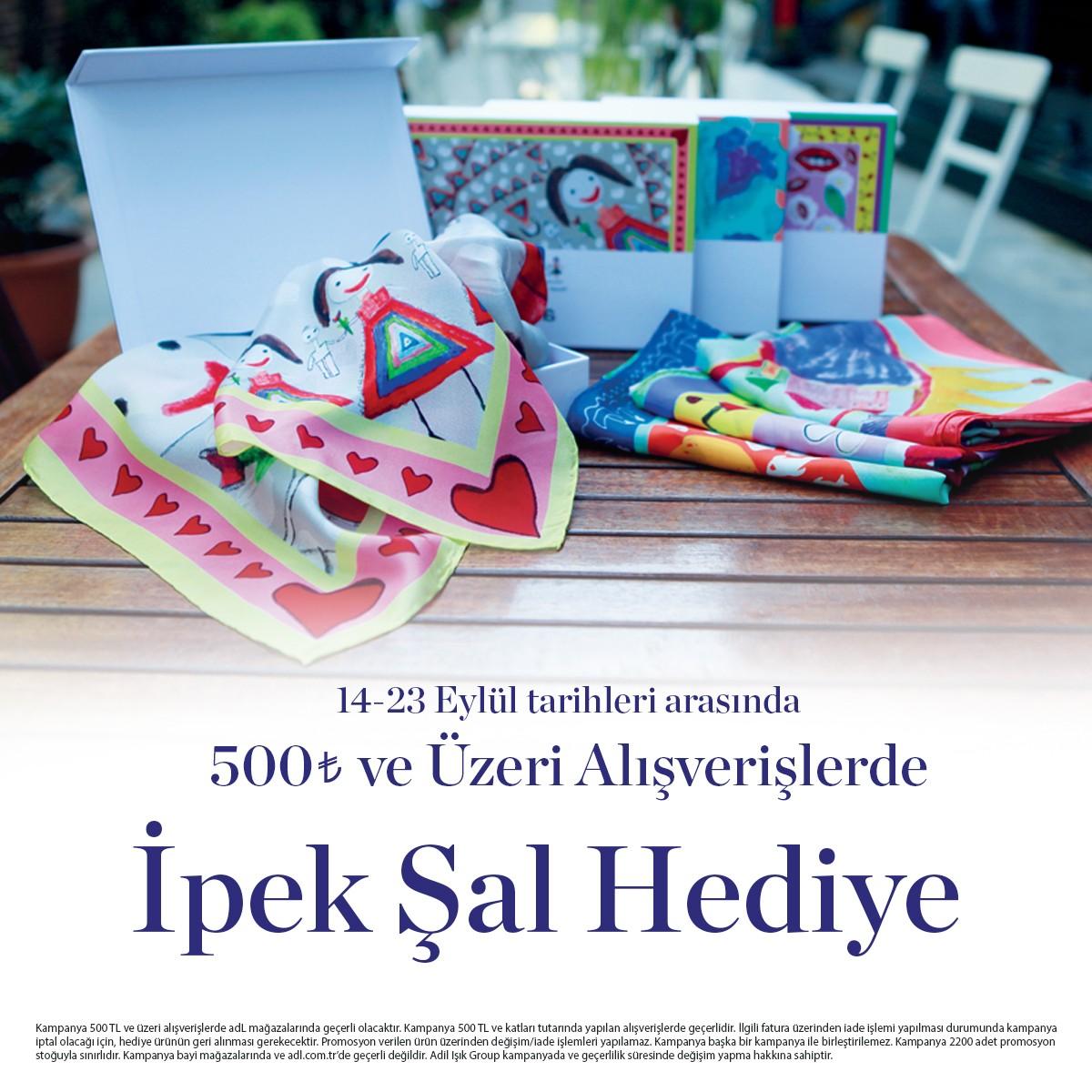 #AntalyaMigros AVM adL mağazasından yapacağınız 500TL ve üzeri alışverişlerinizde ipek şal hediye! #adL #adLetkisi