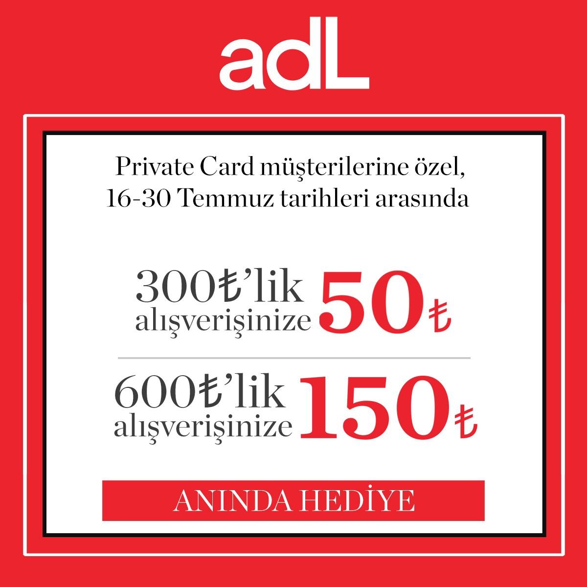 #AntalyaMigros AVM adL'de kaçırılmayacak fırsat! 30 Temmuz'a kadar 300 TL'lik alışverişlerinize 50 TL, 600 TL'lik alışverişinize 150 TL anında hediye! #adL #adLeffect