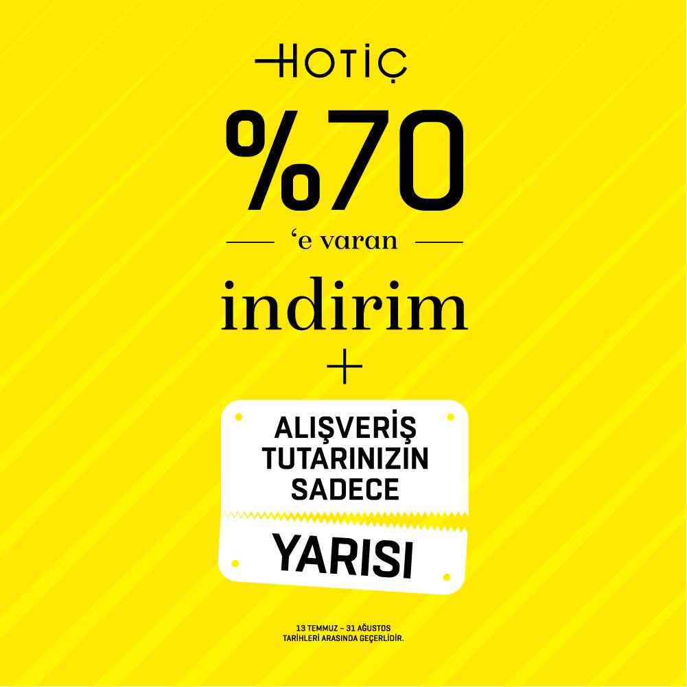 #AntalyaMigros AVM, Hotiç'te %70'e Varan İndirim+Alışveriş Tutarınızın Sadece Yarısını Ödeyin!  Bu kampanya kaçmaz!