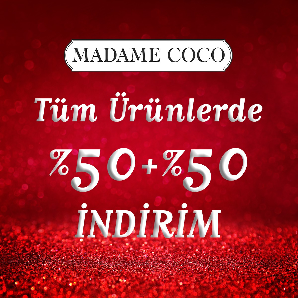 #AntalyaMigros AVM Madame Coco'da 15 Mart Perşembe gününe kadar tüm ürünlerde %50 + %50 indirim var!