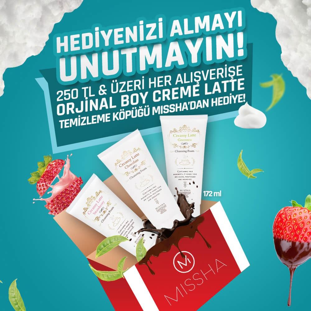 #AntalyaMigros AVM Missha mağazasından her 250 TL ve üzeri alışverişe Creme Latte Temizleme Köpüğü Hediye!