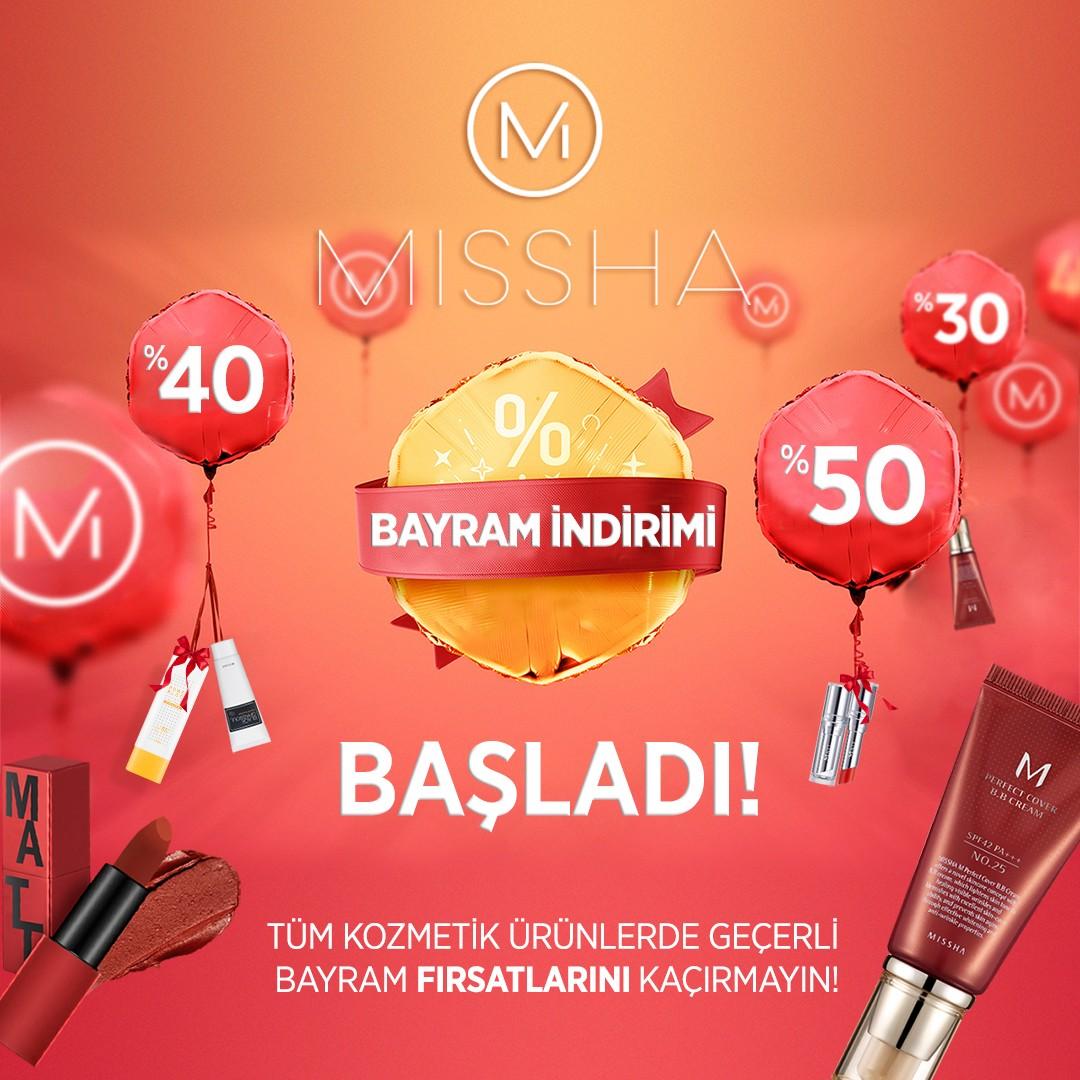 #AntalyaMigros AVM Missha Türkiye'de bayram indirimi başladı! <3   Sınırlı süre ile geçerlidir.