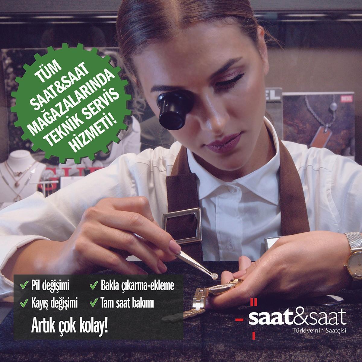 Artık tüm Saat&Saat mağazalarında teknik servis hizmeti bulunmaktadır. Saat&Saat, #AntalyaMigros AVM 1. katta.