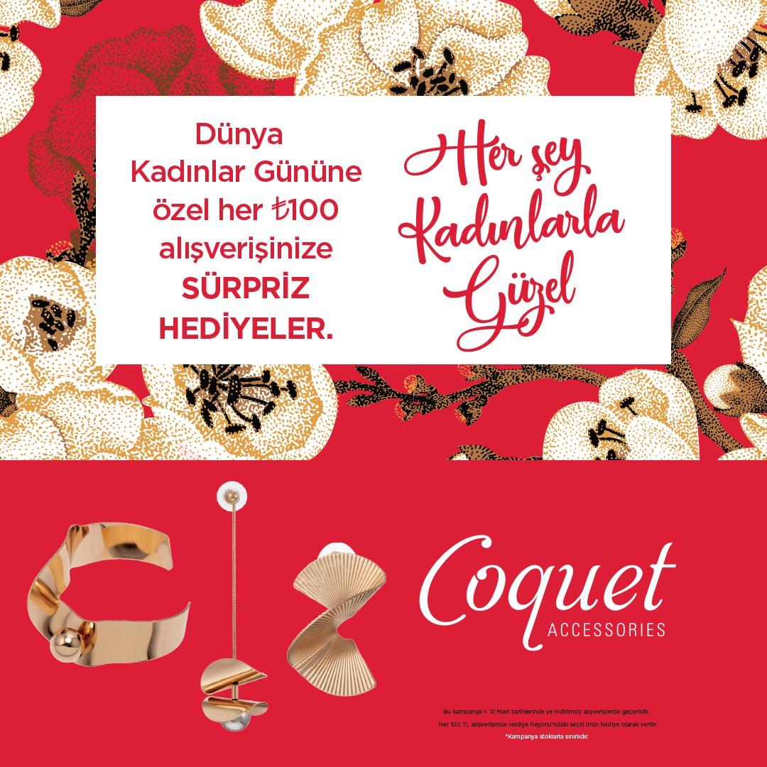 Coquet'te #DünyaKadınlarGünü'ne özel fırsatlar var, kaçırmayın.