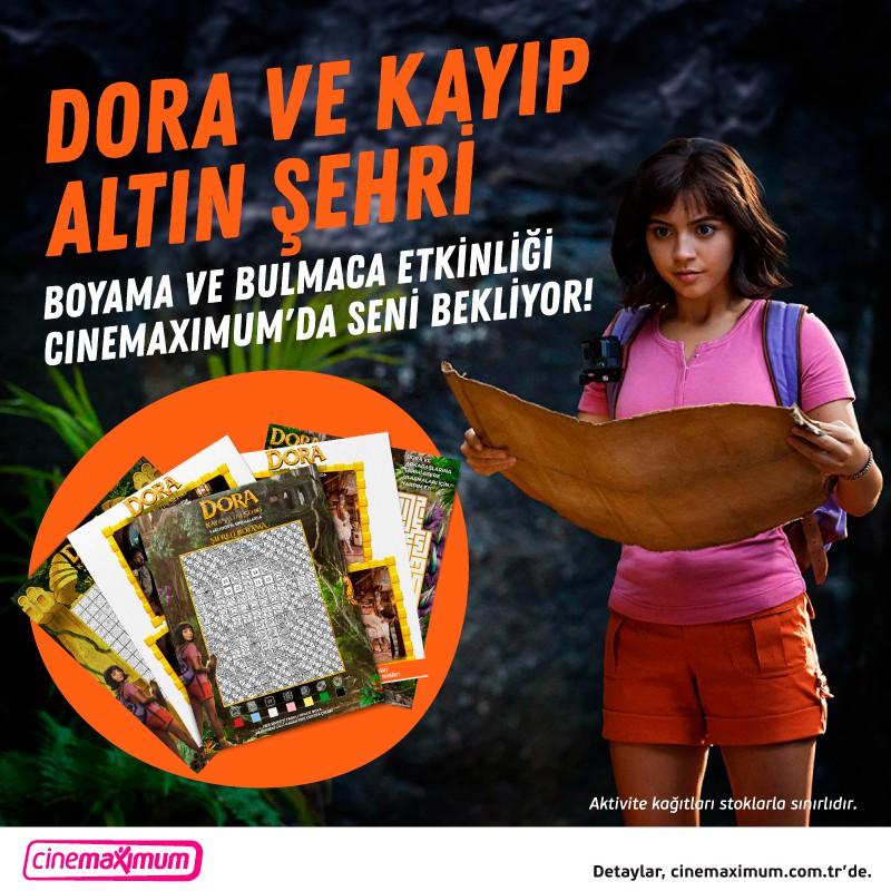Dora ve Kayıp Altın Şehri boyama ve bulmaca etkinliği #AntalyaMigros AVM Cinemaximum'da seni bekliyor.