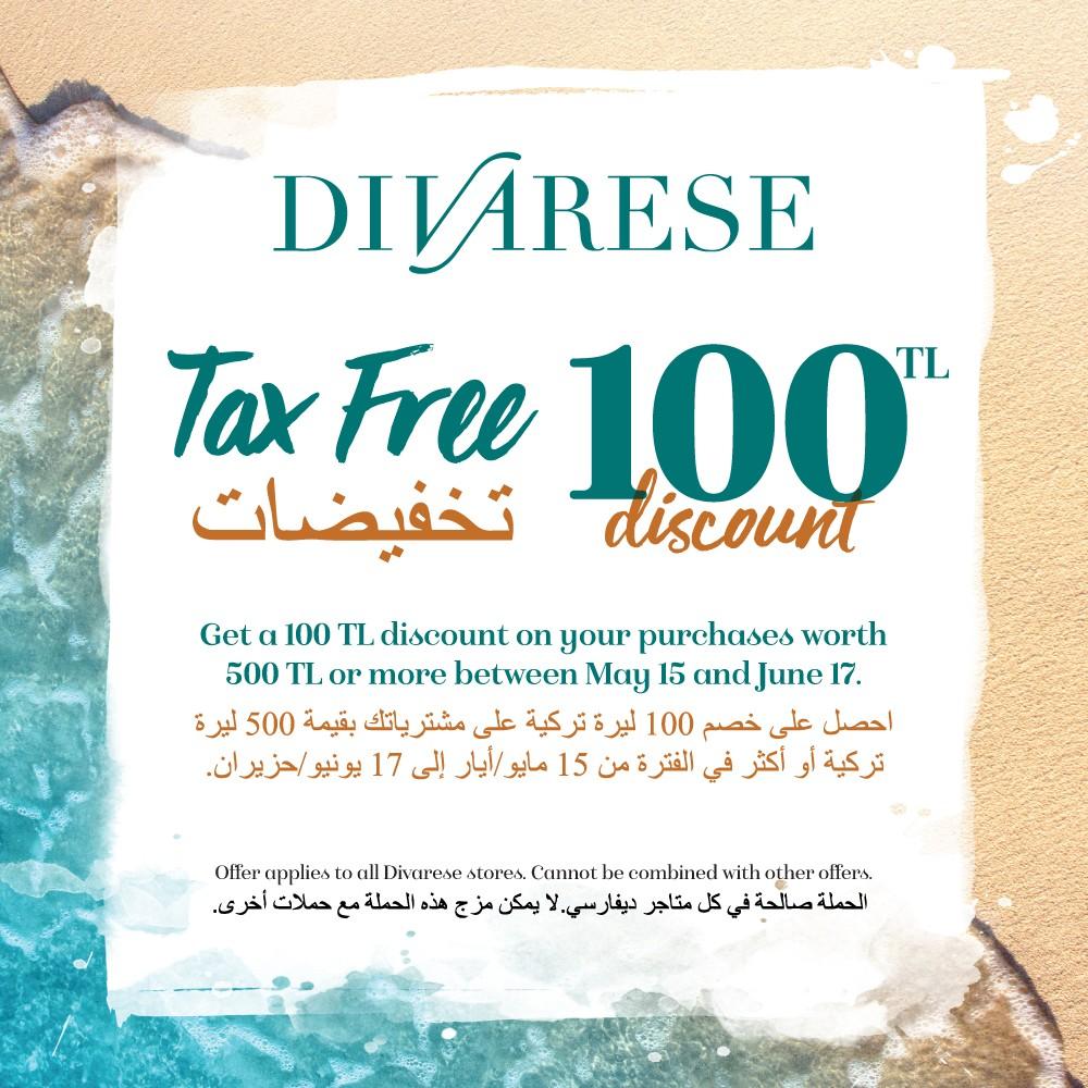 Get a 100 TL discount on your purchases worth 500 TL or more between May 15 and June 17. #AntalyaMigros AVM Divarese mağazasında 15 Mayıs – 17 Haziran tarihleri arasında geçerli olan kampanyayı kaçırmayın!