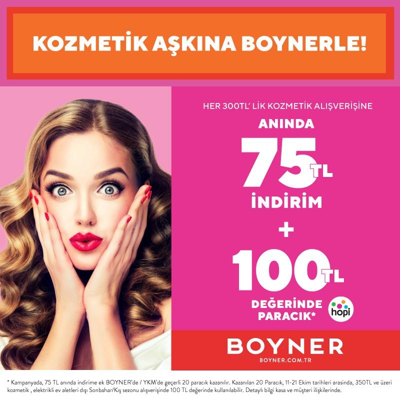 Kozmetik Aşkına Antalya Migros'da Boynerle!