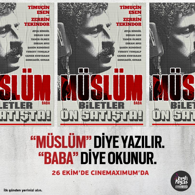 """Merakla beklenen """"Müslüm"""" filmi 26 Ekim'de Cinemaximum'da. Biletler ön satışta!"""