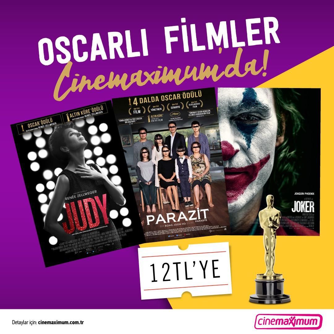 Oscarlı filmler #AntalyaMigros AVM Cinemaximum'da sadece 12 TL!