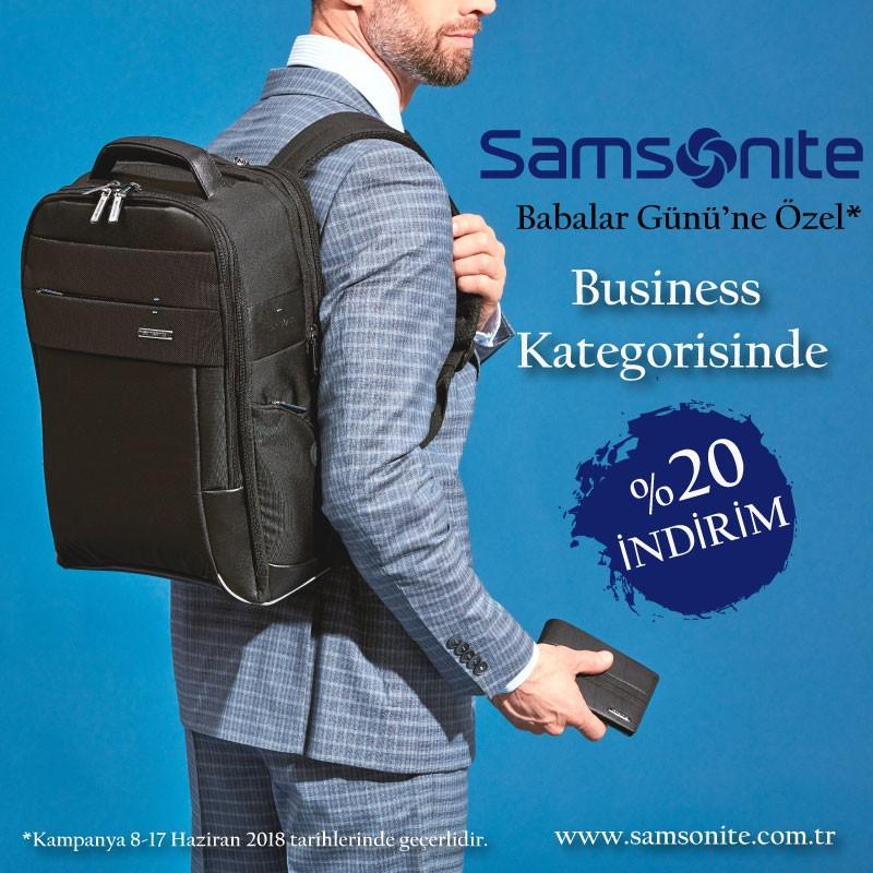 Samsonite'da #BabalarGünü'ne özel Business kategorisinde %20 indirim fırsatı! #AntalyaMigros AVM zemin katta!