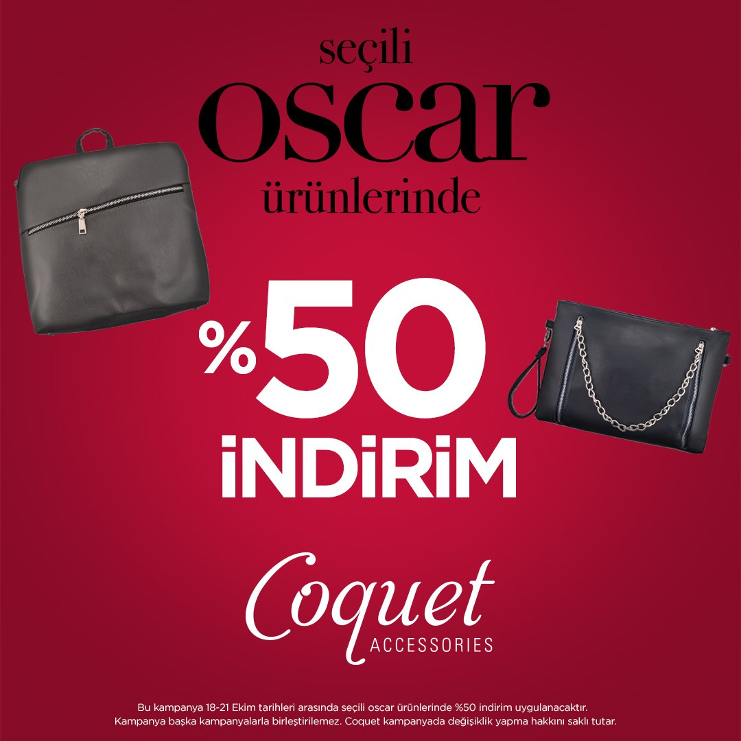 Seçili Oscar ürünlerinde %50 indirim!  #AntalyaMigros AVM Coquet mağazasında!