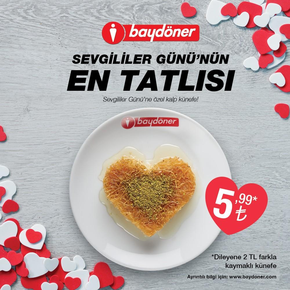 #SevgililerGünü'nün en tatlısı Baydöner'den!