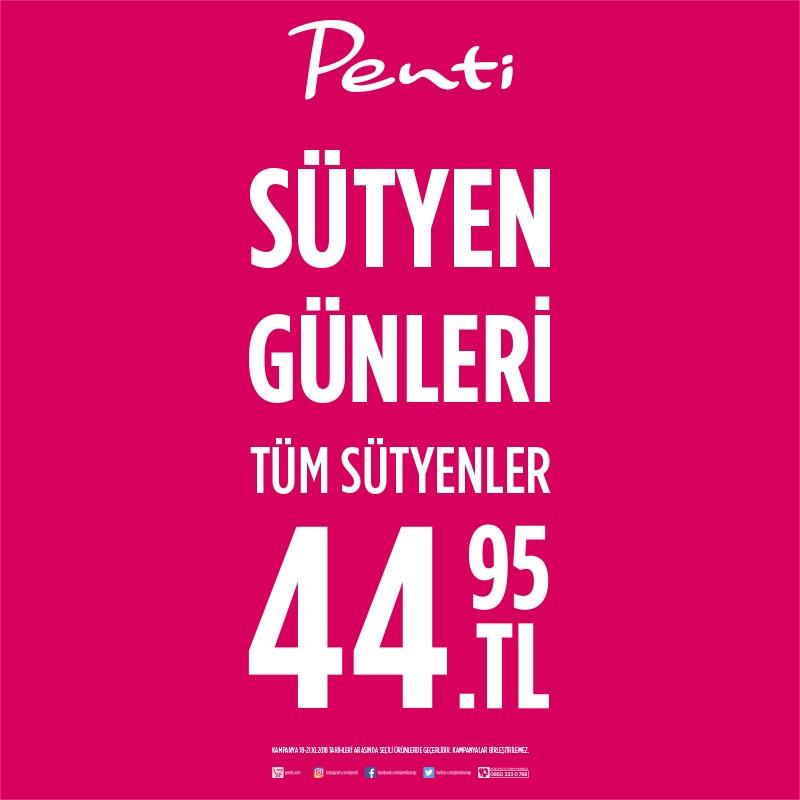 Sütyen Günleri başladı! Tüm sütyenler 44,95 TL, hemen #AntalyaMigros AVM Penti mağazasına gel, fırsatları kaçırma!