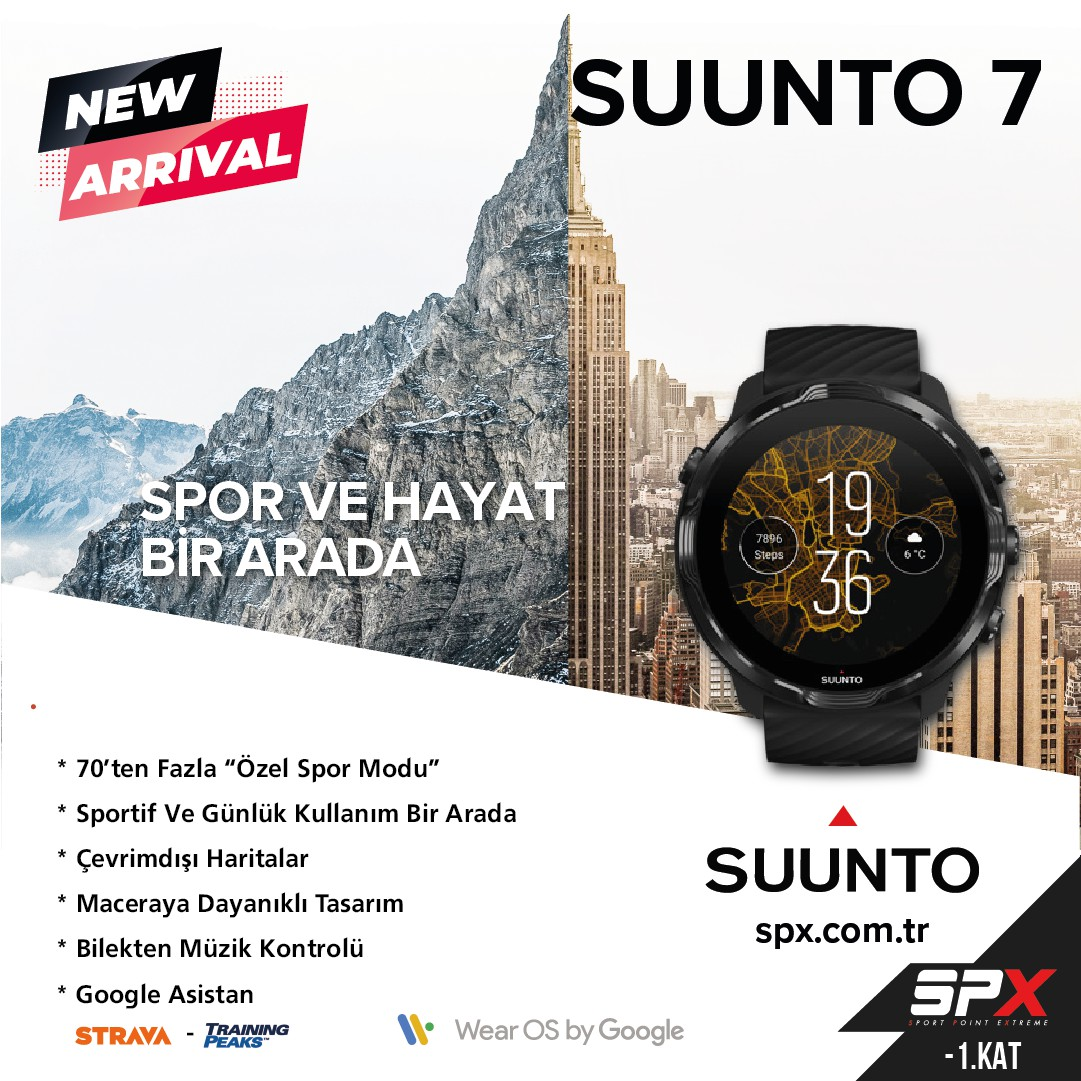 Suunto akıllı saat modeli SPX mağazasında!