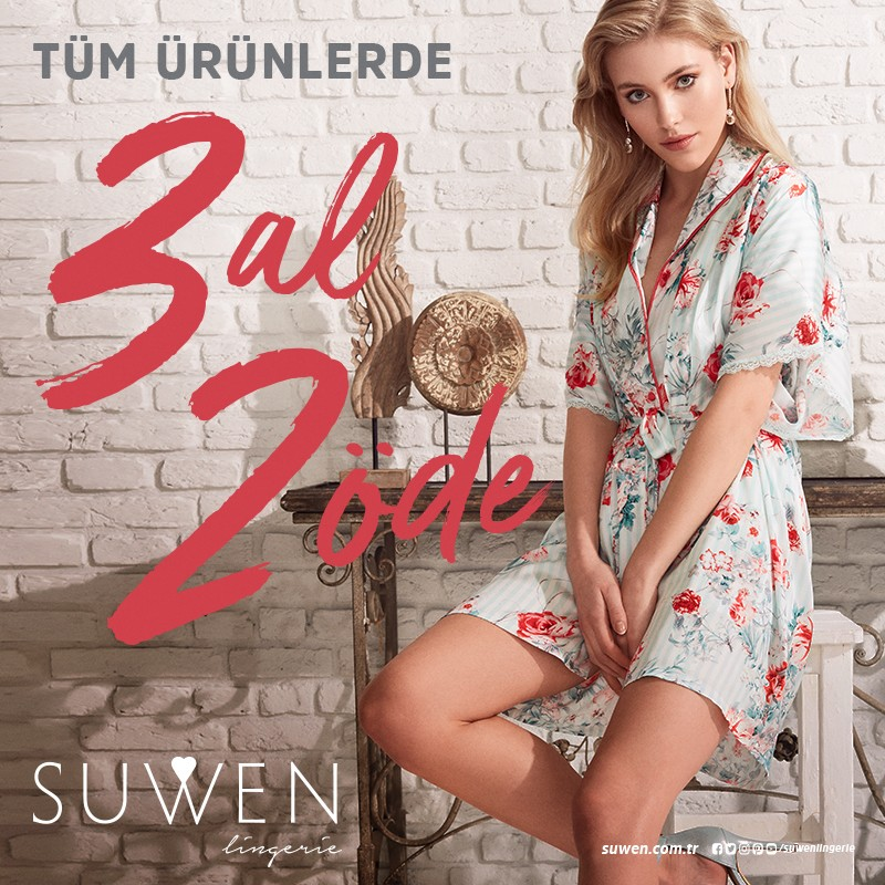 Suwen'de tüm ürünlerde 3 al 2 öde fırsatı başladı.
