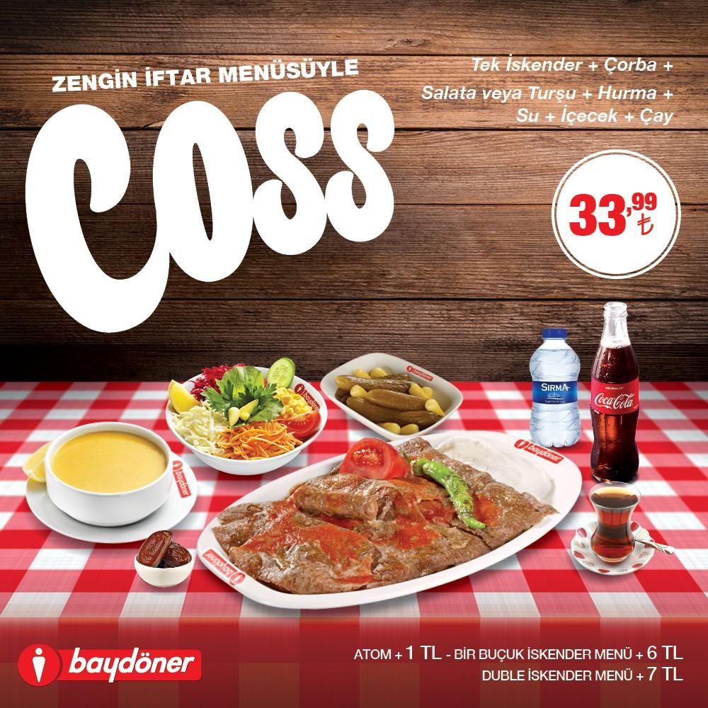 Zengin iftar menüsüyle Baydöner sizleri #AntalyaMigros AVM'deki restaurantına bekliyor.