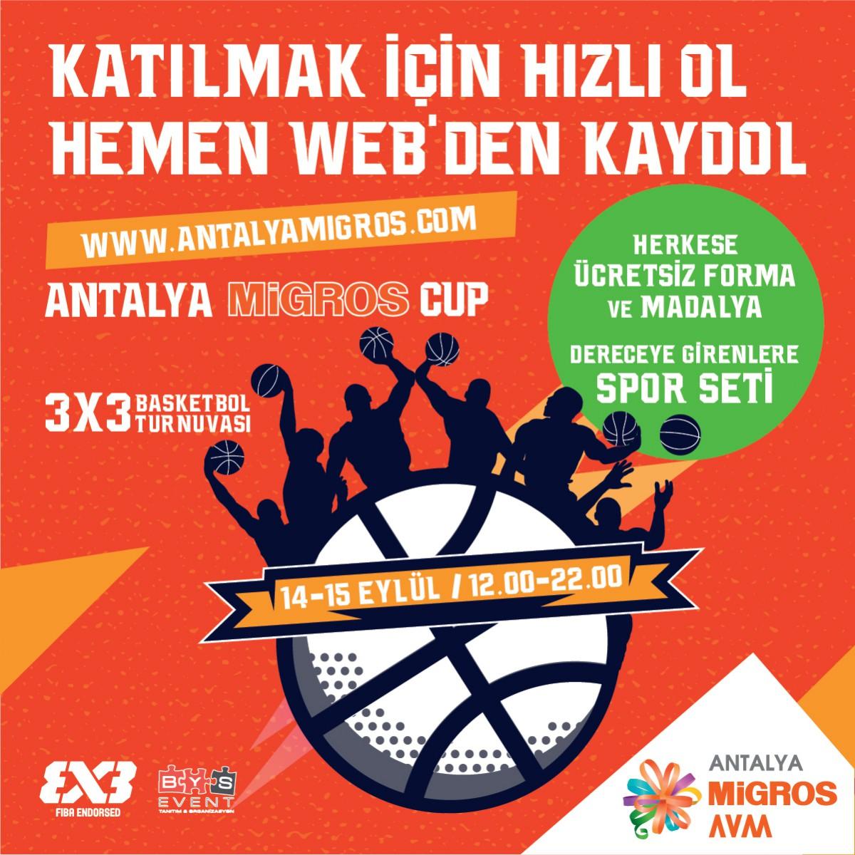 Antalya Migros Cup heyecanı için geri sayım başladı!