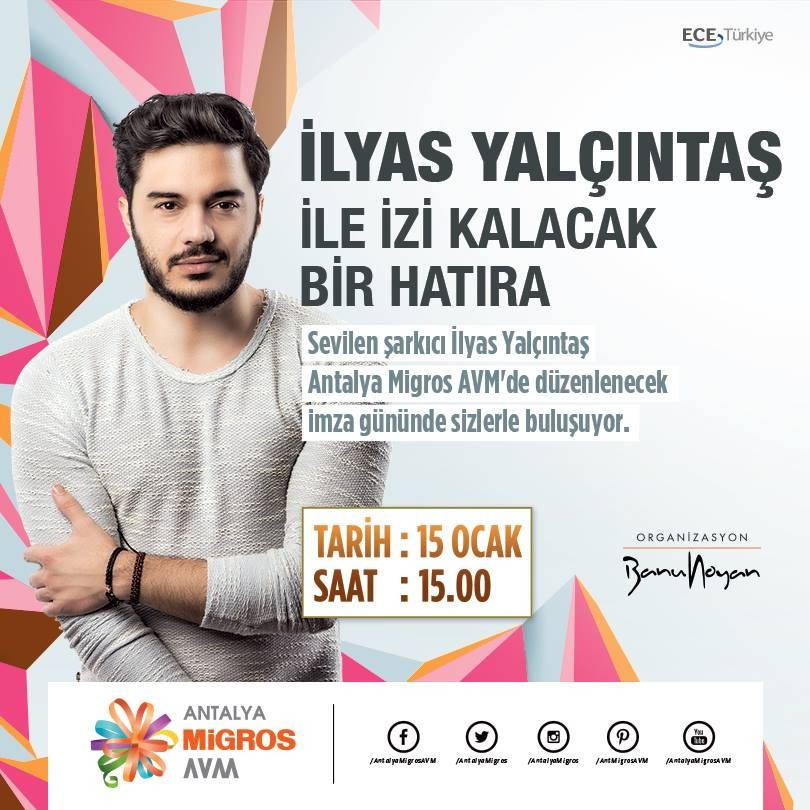 İlyas Yalçıntaş Antalya Migros'ta!
