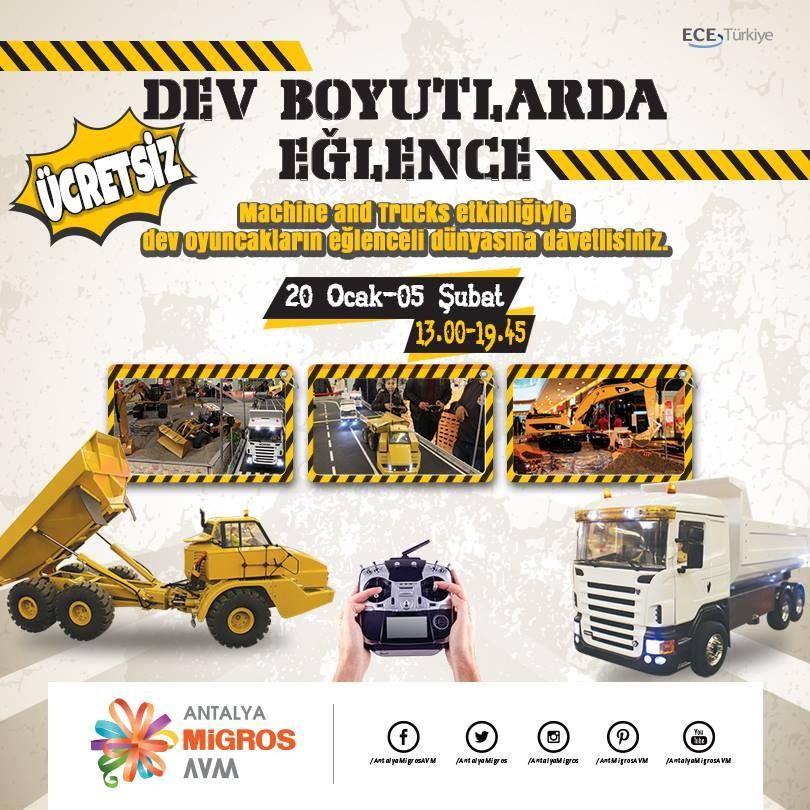Machine and Trucks ile Antalya Migros'ta Yarış Heyecanı!