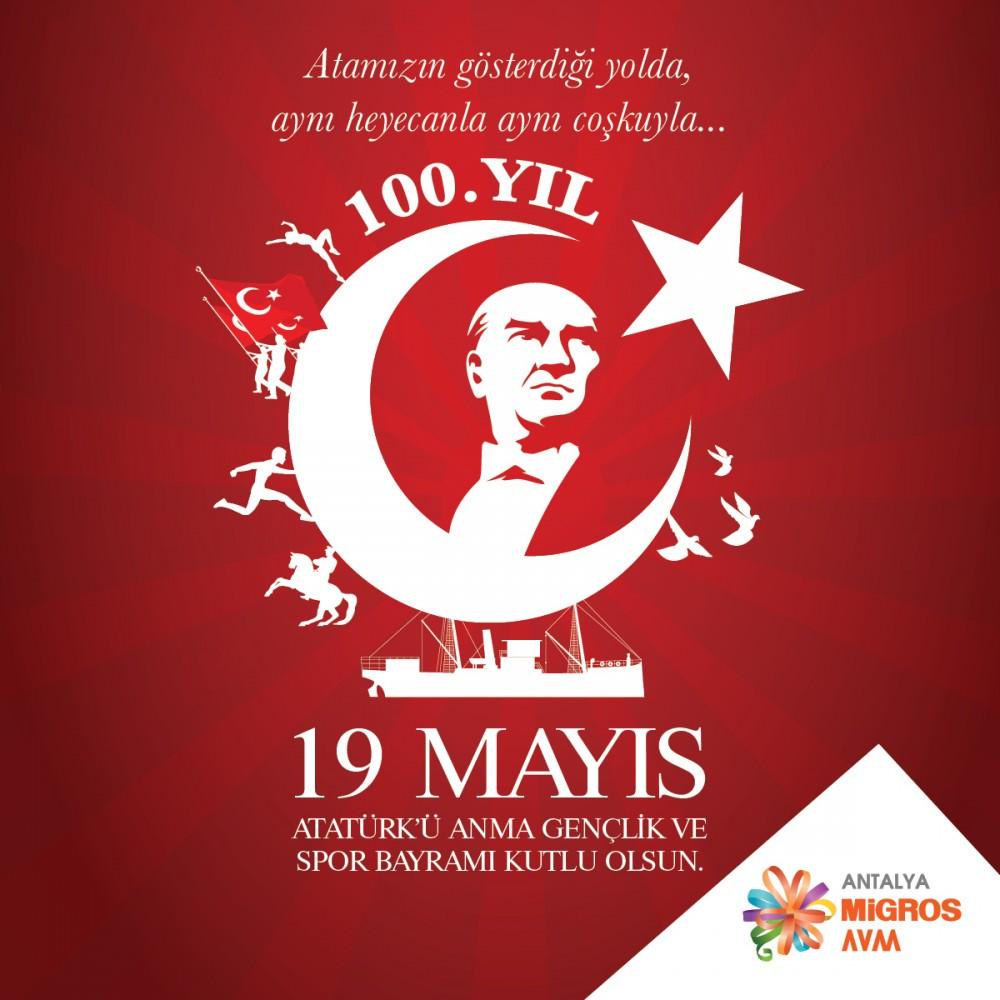 19 Mayıs Atatürk'ü Anma, Gençlik ve Spor Bayramımızın 100. yılı kutlu olsun!