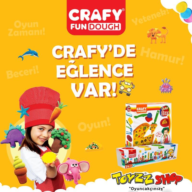 Crafy farklı renkteki yumuşacık oyun hamurları ile birbirinden farklı şekiller yapabilecekler. Minikler hem eğlenecek hem de yaratıcılıklarını geliştirecekler. Antalya Migros Toyzz Shop mağazasında!