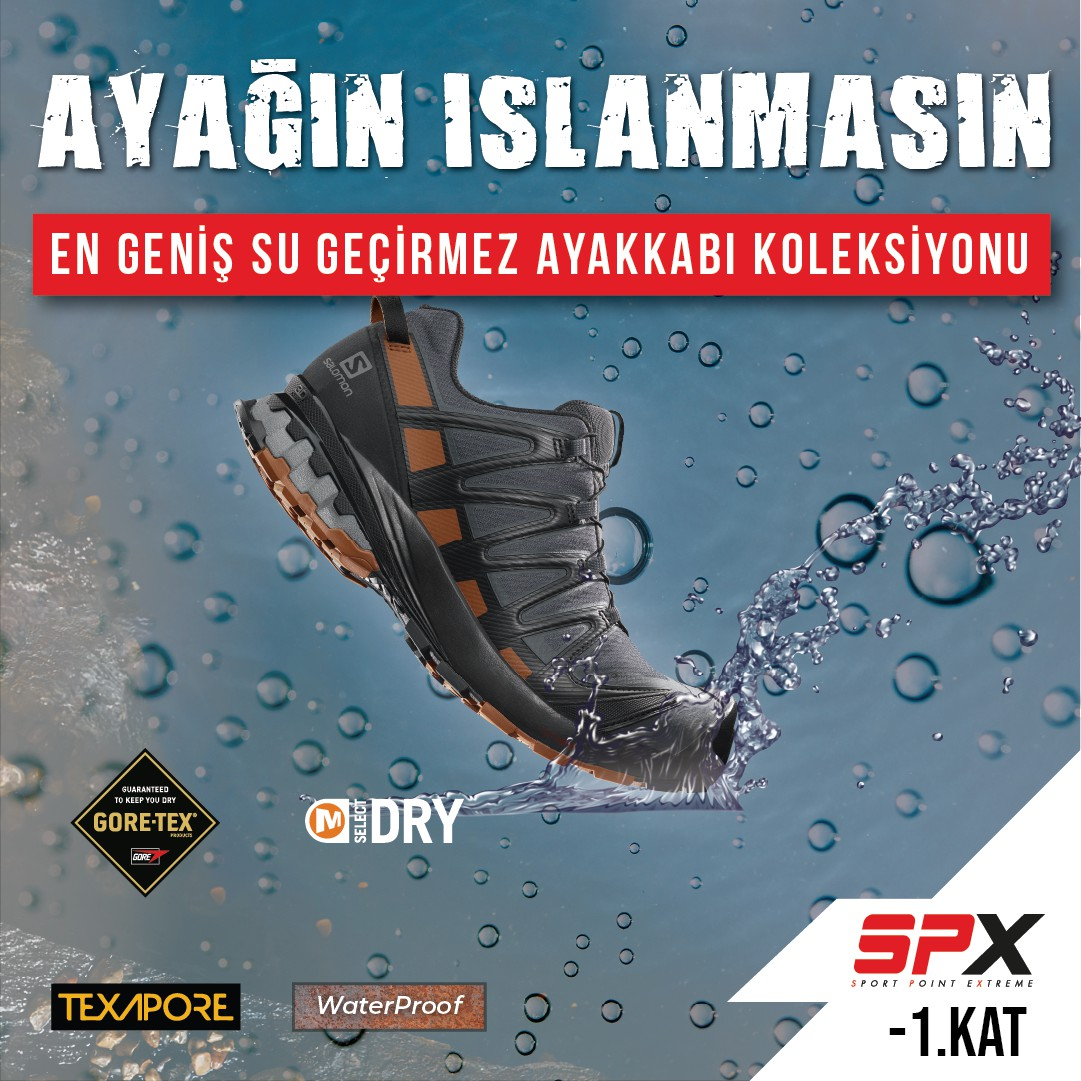 En geniş su geçirmez ayakkabı koleksiyonu SPX mağazasında!