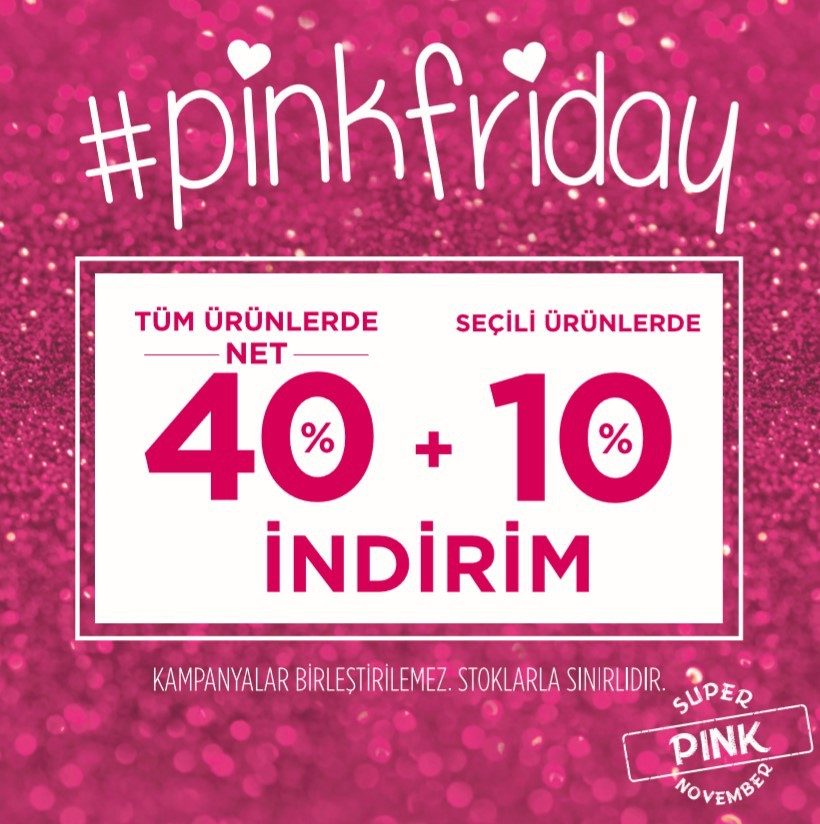 Heyecanla beklediğin #pinkfriday başladı! Haydi o zaman Antalya Migros Penti mağazasında buluşalım.
