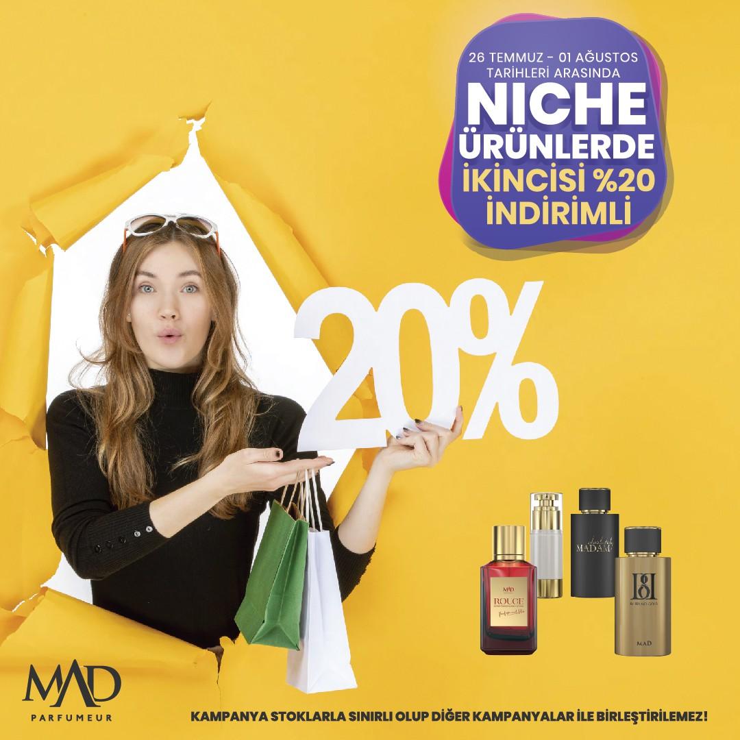 Mad Parfumeur'da 2. Ürüne %20 İndirim
