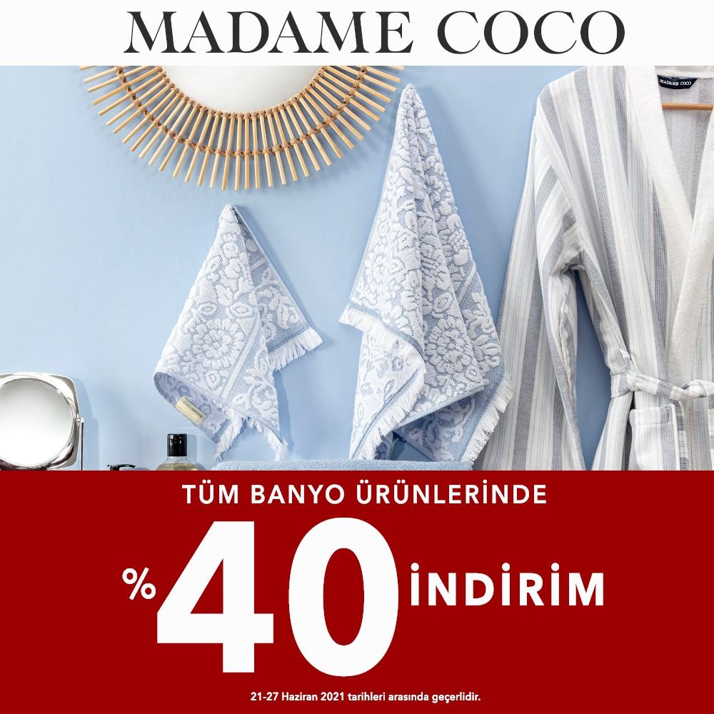 Madame Coco Tüm Banyo Ürünlerinde %40 İndirim