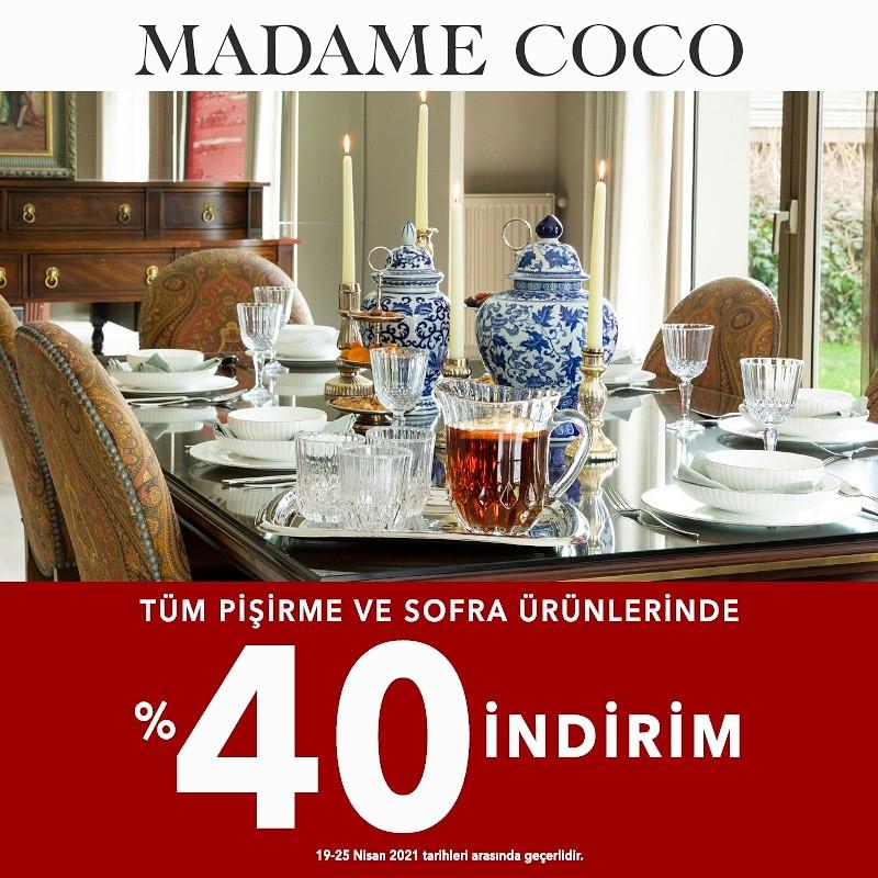 Madame Coco Tüm Pişirme Ve Sofra Ürünlerinde %40 İndirim
