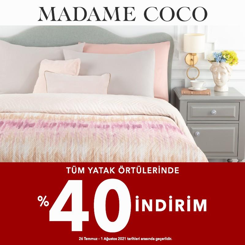 Madame Coco Tüm Yatak Örtülerinde %40 İndirim