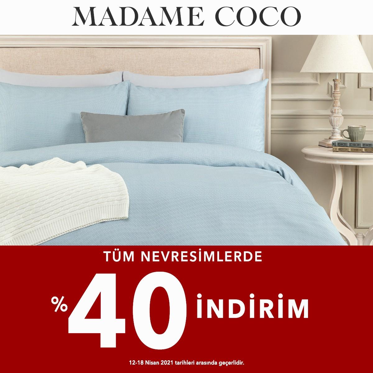 Madame Coco'da Tüm Nevresimlerde %40 İndirim