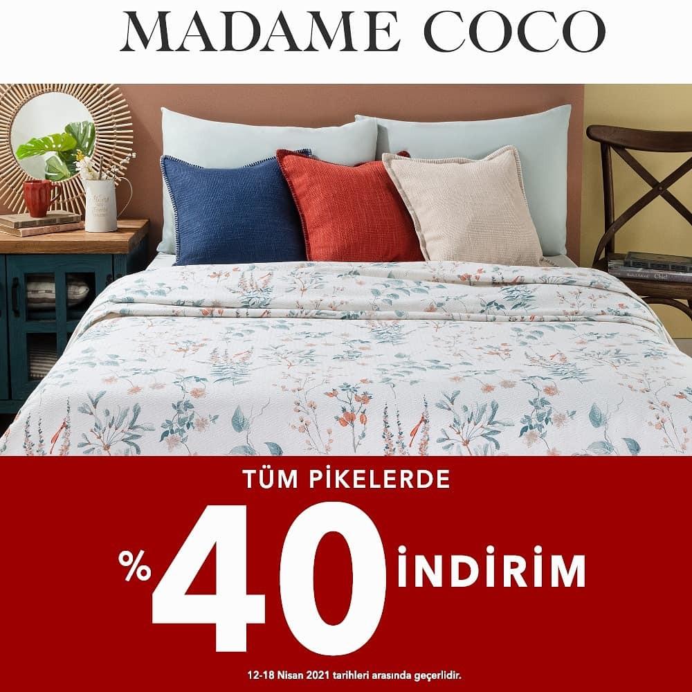 Madame Coco'da Tüm Pikelerde %40 İndirim