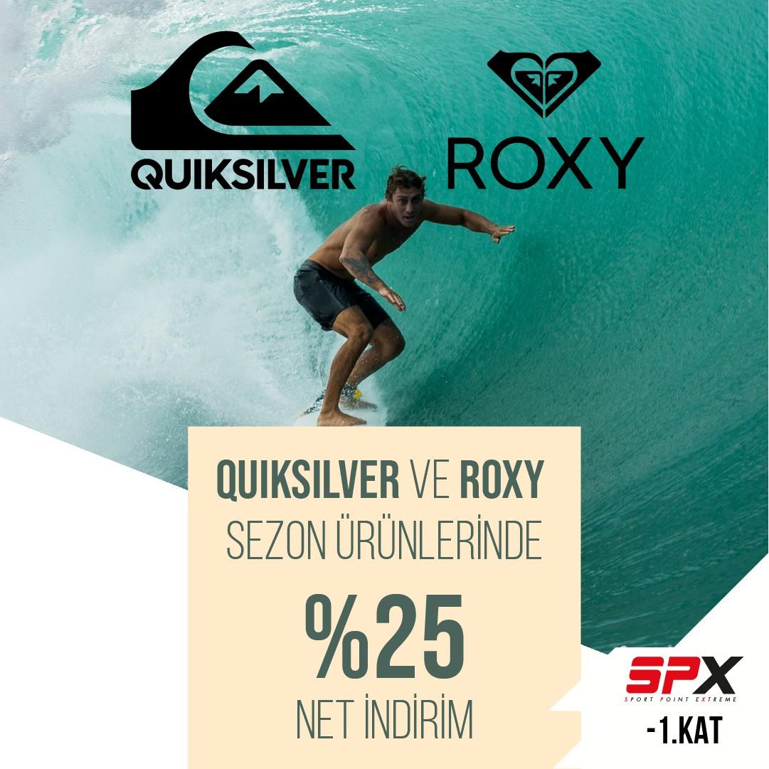 QuickSilver ve Roxy ürünlerinde Net %25 indirim!