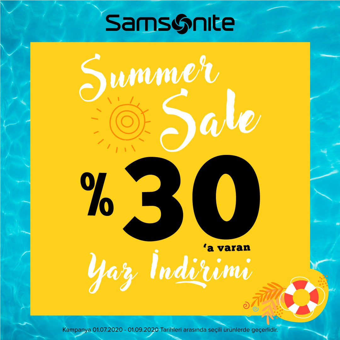 Samsonite mağazasında Yaz indirimi başladı!