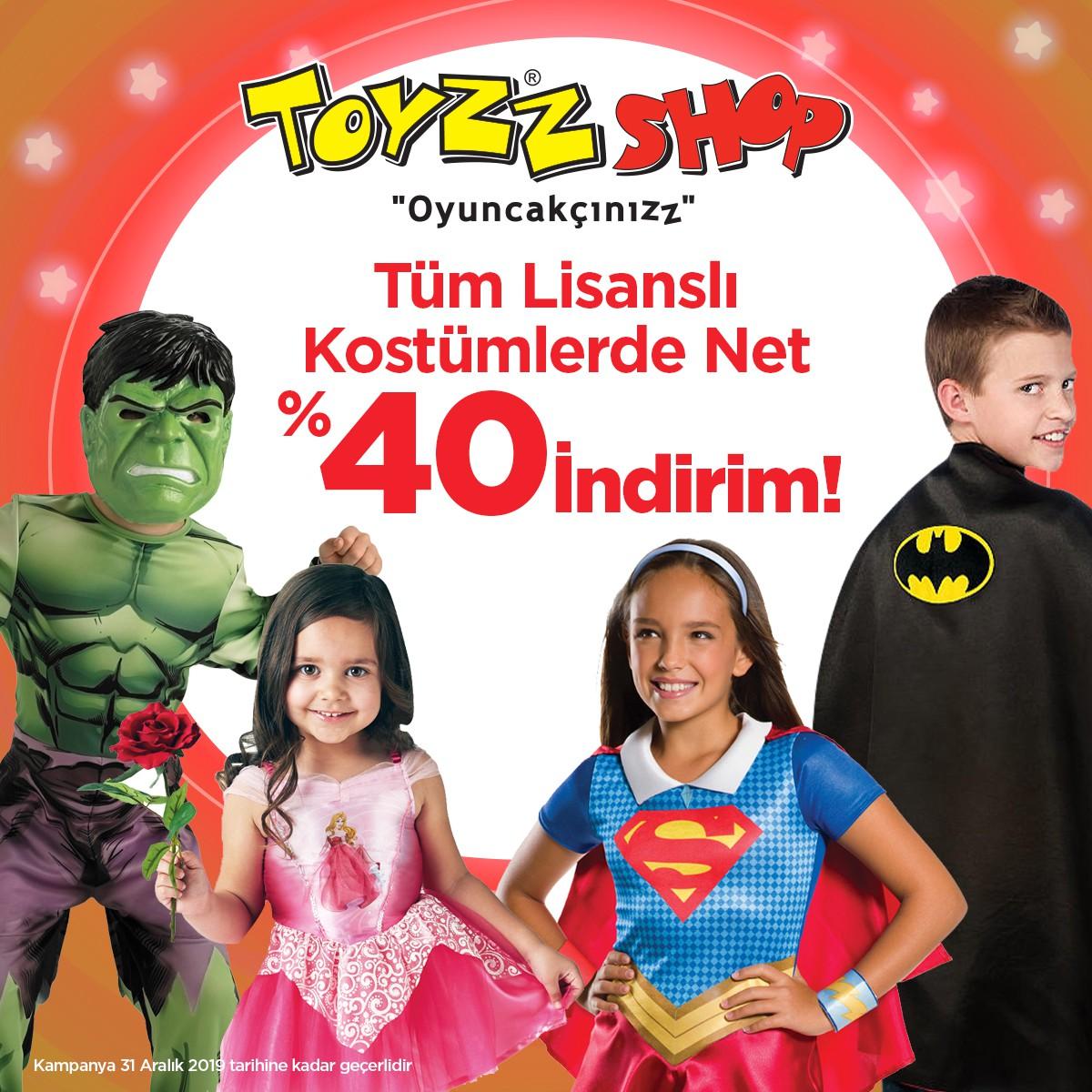 Toyzz Shop'ta tüm lisanslı kostümlerde %40 indirim!