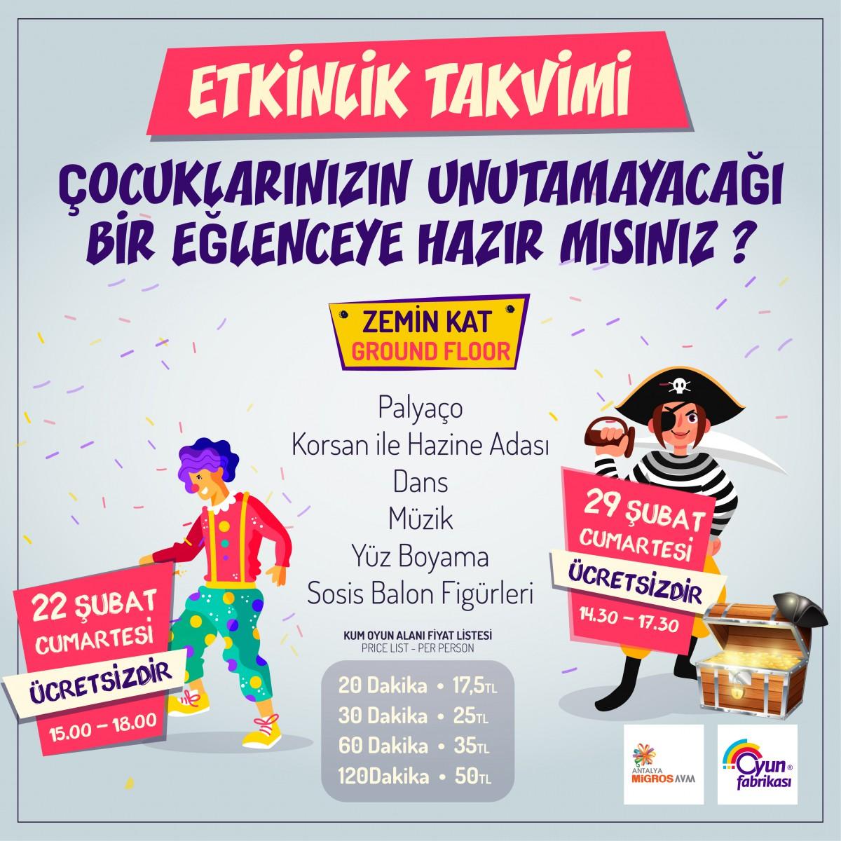 Antalya Migros AVM Oyun Fabrikası Etkinliği